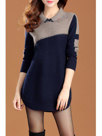 Image of Color Block Sweater Dress