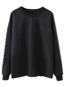 Streetwear Carta Suelta La Camiseta - Negro S