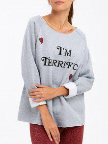 Buy am Terrific Pullover Sweatshirt - GRAY 2XL