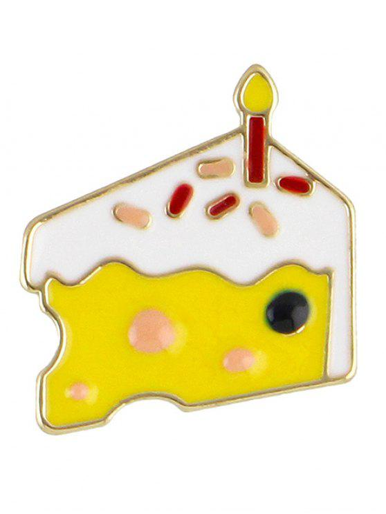 outfit Adorn Cake Brooch - YELLOW