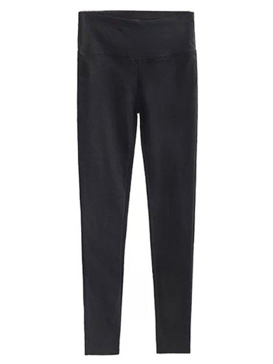 affordable Casual Stretchy Pencil Pants - BLACK M