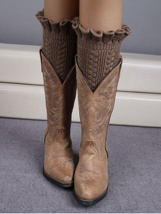 Increspato Knit Boot polsini - Cachi