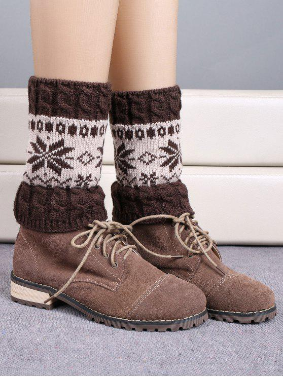 new Christmas Snowflake Boot Cuffs - ESPRESSO