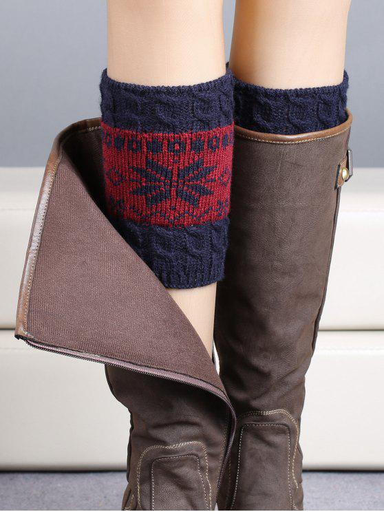 shop Christmas Snowflake Boot Cuffs - PURPLISH BLUE