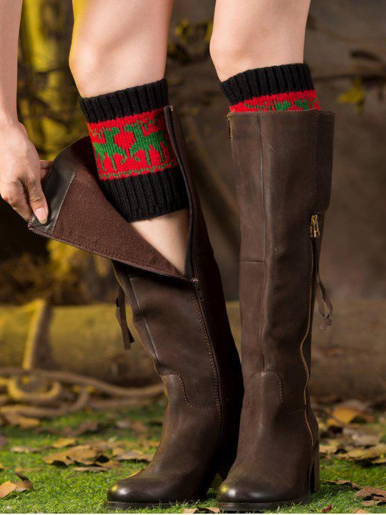 buy Christmas Deer Boot Cuffs - RED