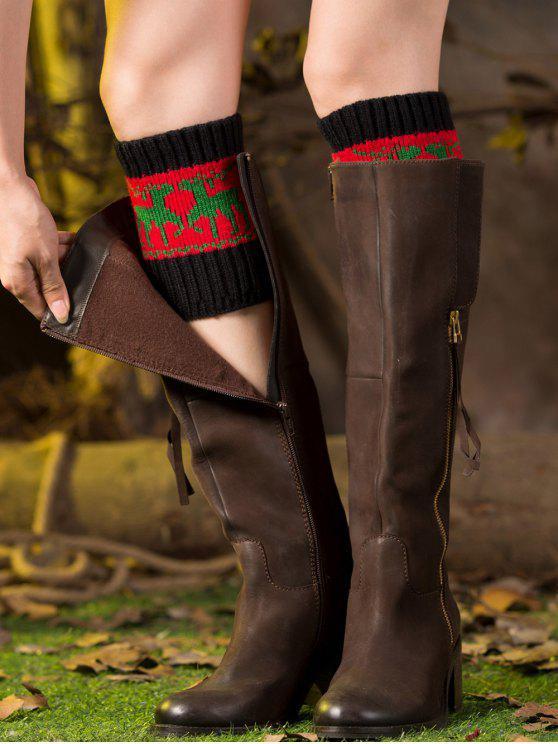 Weihnachten Deer Boot-Manschetten - Rot