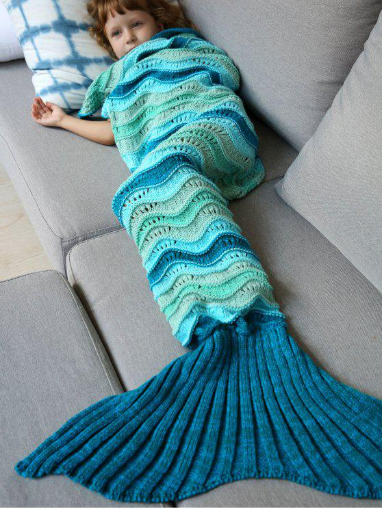 outfit Knitted Kids Mermaid Blanket - COLORMIX