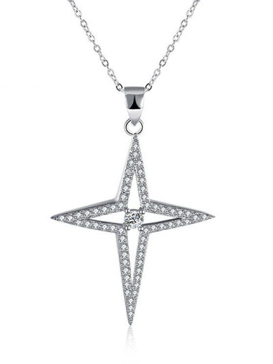 North Star S925 Diamant-Halskette - Silber