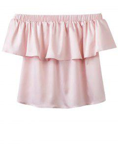 Off The Shoulder Flouncing Blouse - Pink M