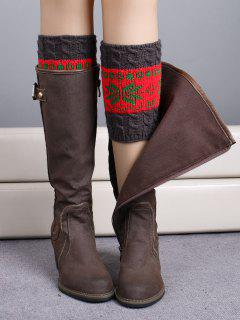 Christmas Snowflake Boot Cuffs - Red