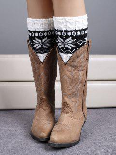 Christmas Snowflake Boot Cuffs - White