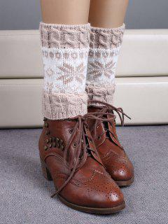 Christmas Snowflake Boot Cuffs - Beige