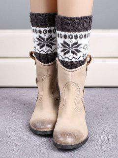 Christmas Snowflake Boot Cuffs - Deep Gray