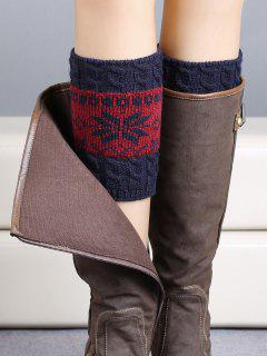 Christmas Snowflake Boot Cuffs - Purplish Blue