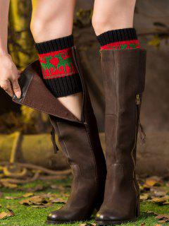 Christmas Deer Boot Cuffs - Red