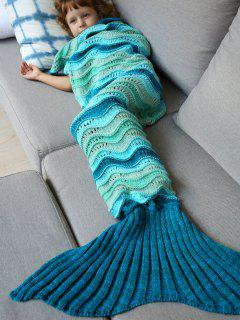 Knitted Kids Mermaid Blanket