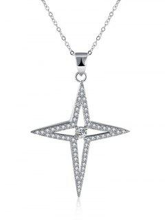 North Star S925 Diamond Necklace - Silver
