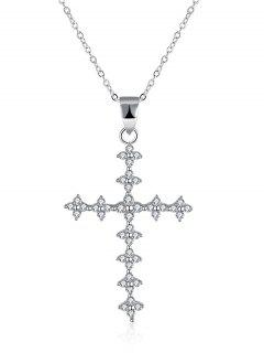 Clover Crucifix S925 Diamond Necklace - Silver