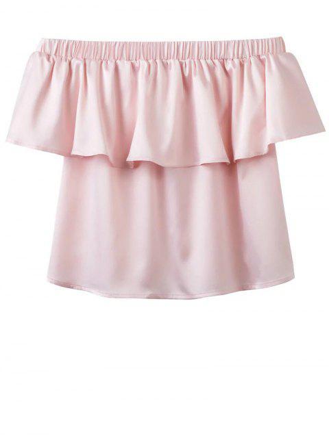 Del hombro del volante de la blusa - Rosa S Mobile
