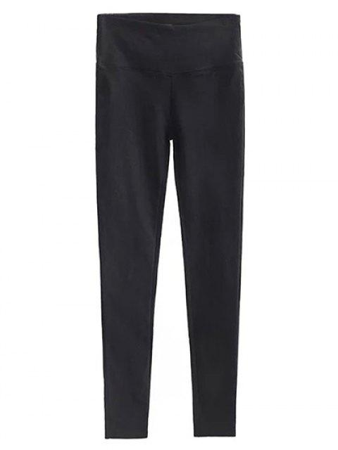 affordable Casual Stretchy Pencil Pants - BLACK M Mobile