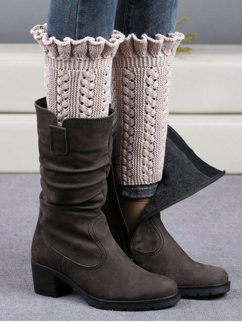 affordable Ruffled Knit Boot Cuffs -   Mobile