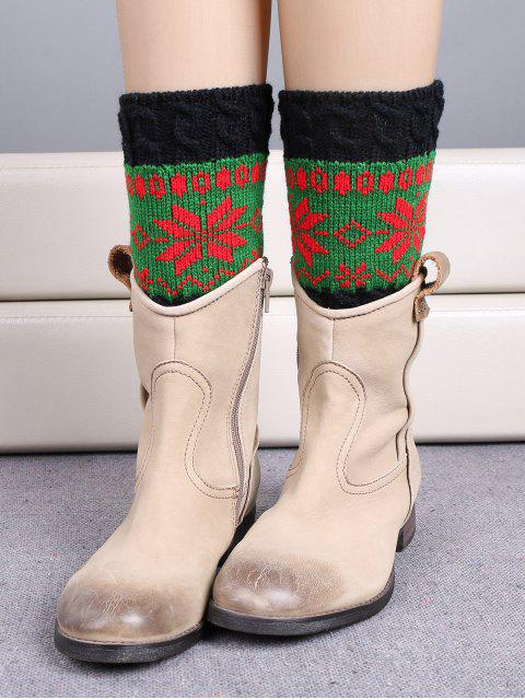 Weihnachtsschneeflocke-Boot-Manschetten - Grün  Mobile