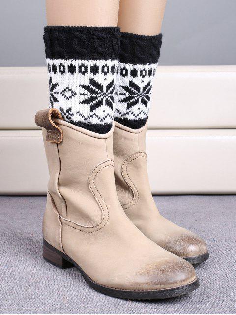 Chaussettes bottes àà motif de flocon de neige à style de Noël - Noir  Mobile