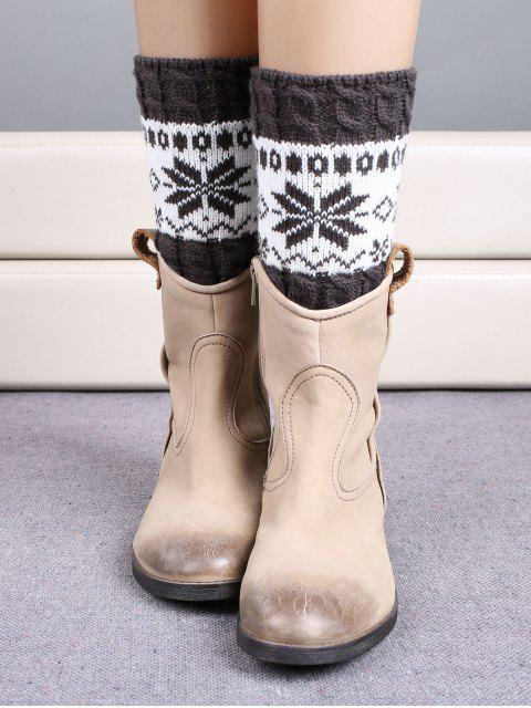 outfits Christmas Snowflake Boot Cuffs - DEEP GRAY  Mobile