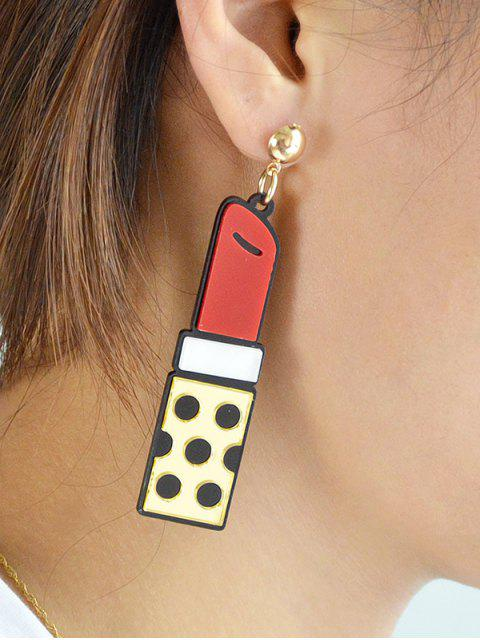 chic Lipstick Drop Earrings -   Mobile