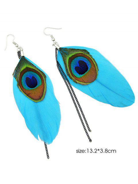 buy Bohemian Style Peacock Feather Earrings -   Mobile