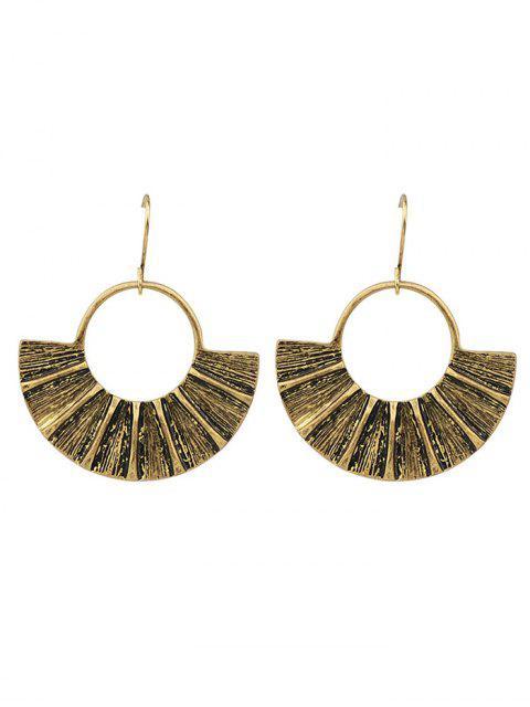 women's Circle Fan-Shaped Earrings -   Mobile
