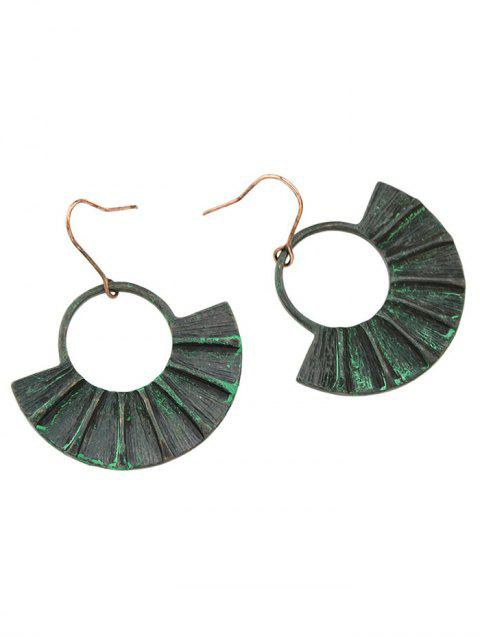 ladies Circle Fan-Shaped Earrings -   Mobile