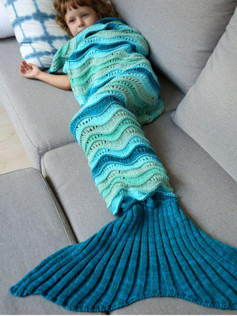 outfit Knitted Kids Mermaid Blanket -   Mobile