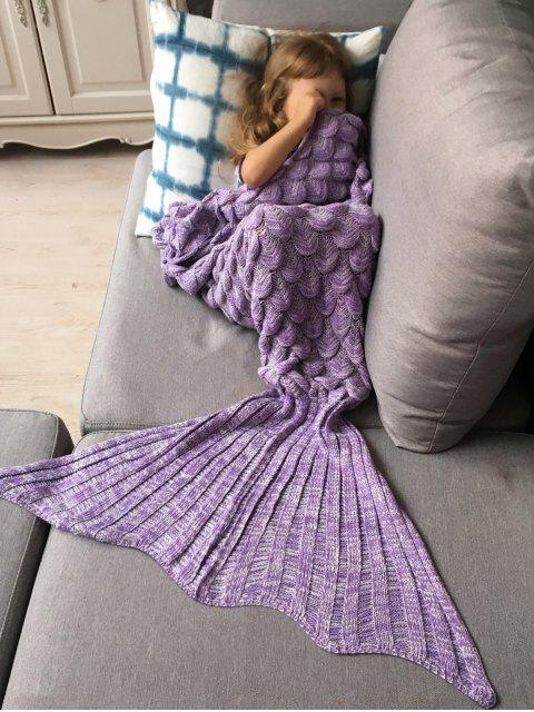 new Knitted Mermaid Blanket for Kids -   Mobile