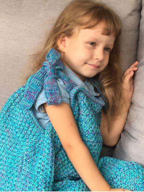 women's Sleeping Bag Knitted Mermaid Blanket - TURQUOISE  Mobile