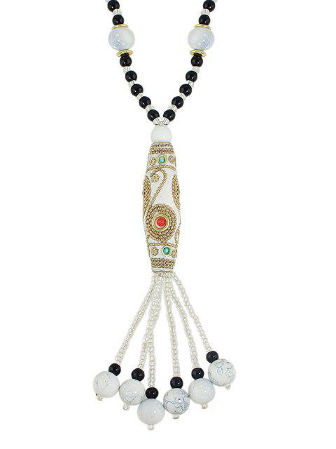 online Bohemian Style Beads Necklace -   Mobile