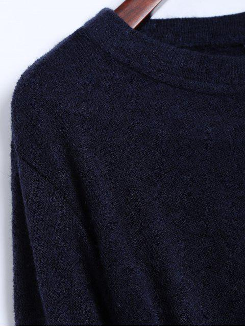 affordable Side Zipper Sweater Dress - CADETBLUE XL Mobile