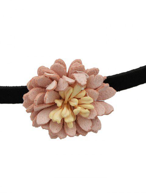 affordable Artificial Leather Flower Velvet Choker Necklace -   Mobile