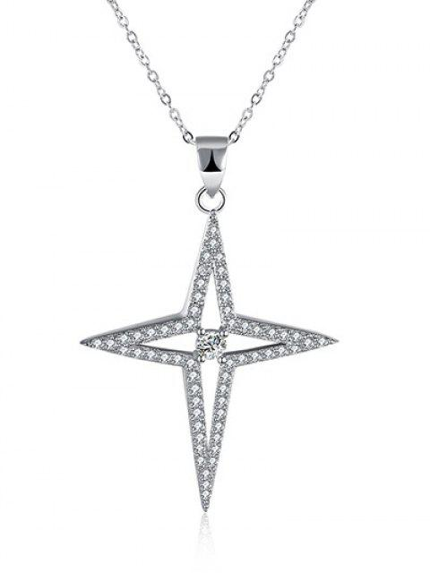 sale North Star S925 Diamond Necklace - SILVER  Mobile