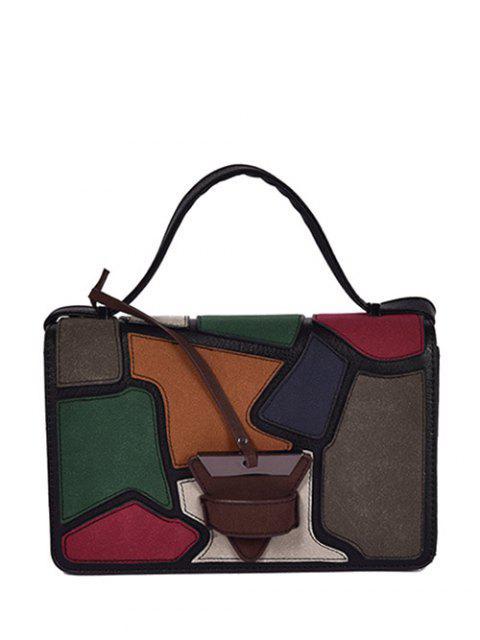 outfits Colour Splicing Patchwork Square Shape Crossbody Bag -   Mobile