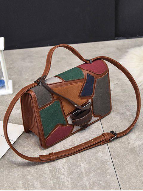 shop Colour Splicing Patchwork Square Shape Crossbody Bag -   Mobile