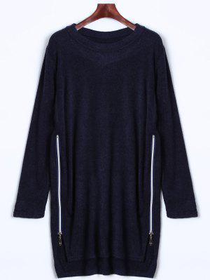 Vestido del suéter de la cremallera lateral
