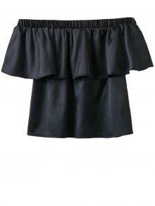 Buy Shoulder Flouncing Blouse - BLACK S