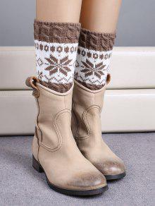 Buy Christmas Snowflake Boot Cuffs - KHAKI