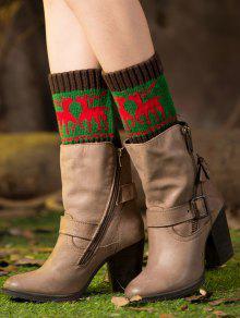 Buy Christmas Deer Boot Cuffs - GREEN