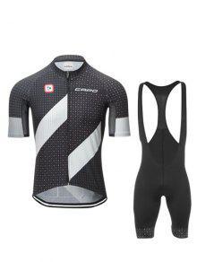 Active Sleeve Negro Culotte + Short Del Lunar De La Bici Jerseys Twinset Para Los Hombres - Negro M