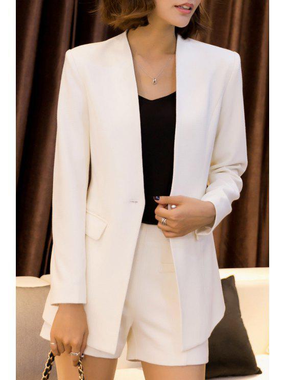 Trabalho Blazer Com Mini Shorts - Branco 4XL