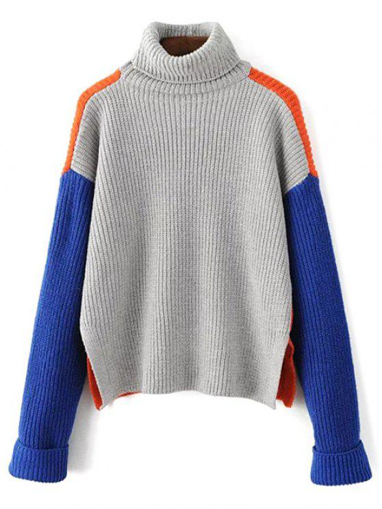 unique Turtleneck Chunky Sweater - JACINTH ONE SIZE