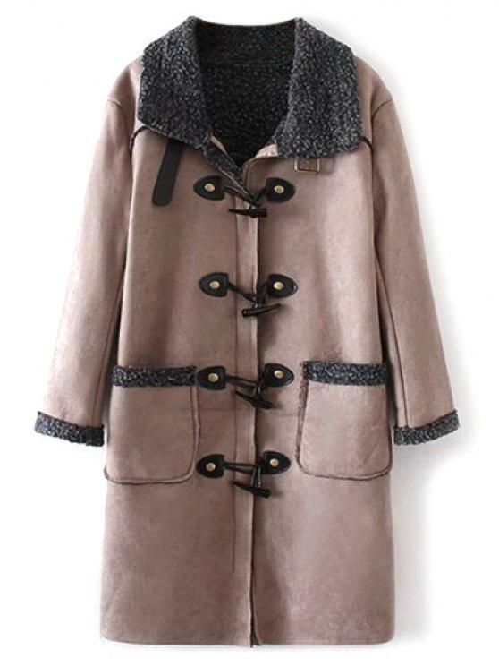 fancy Lamb Duffle Coat - NUDE PINK S