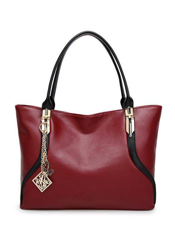 ladies Chains Pendant Shoulder Bag - RED